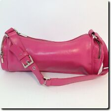MNG Mango Pink Barrel Bag with End Zippered Pockets