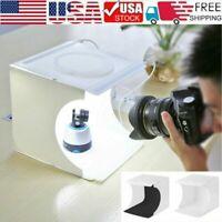 Portable Mini Photo Studio Lighting Box Photography Backdrop LED Light Room Tent