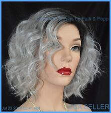 ATTITUDE RENE OF PARIS Orchid Wigs - LACE FRONT - New WAVY SILVER MIST ROOTED