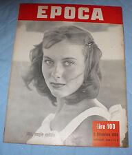 RIVISTA EPOCA ANNO I N.8 DICEMBRE 1950 BARTALI O. WELLES LEONIDE MOGUY S.PIOLA