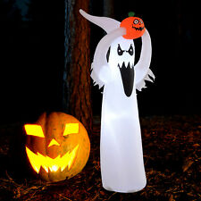 LED Floating Ghost Pumpkin Halloween Decoration  Mains Powered Novelty Fun 8FT