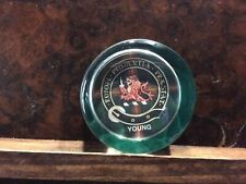 Scottish Young Clan Glass Paperweight Robore Prudentia Praestat