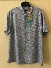 Tommy Bahama Geo Chaser Fresh Air Blue Button Up Men's Shirt M NWT $128