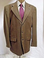 Men's suit jacket Stafford Options 40 L brown wool 3 button