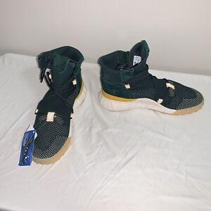 Men's Adidas Tubular X 2.0 PK Green Yellow White CQ1376 Size 6