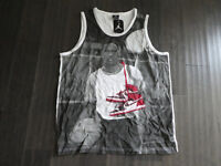 Nike Air Jordan tank top t shirt retro 1 shoes new 622093 100 men's