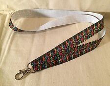 Colorful Music Note Lanyard Key Chain Lightweight Designer Ribbon Instruments