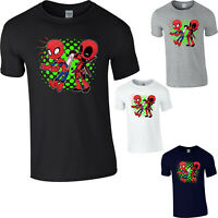 Spiderman & Deadpool Funny T-Shirt Marvel Avengers Superhero Comics Gift Tee Top