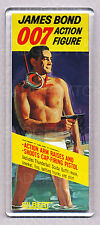 JAMES BOND 007 FIGURE toy box art WIDE FRIDGE MAGNET - CLASSIC GILBERT TOY !