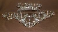 7 Pc Set HEISEY LARIAT 2 Handled Footed Cream Soup Bowls Flared Rim