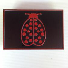 Vintage Lady Bug Box - Red & Black Plastic with 3 Compartments