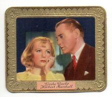 Greta Garbo Herbert Marshall 1934 Garbaty Film Star Series 2 Cigarette Card #50