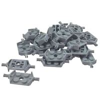 35 NEW LEGO Plate, Modified 2 x 2 Wheels Holder Wide and Hole Light Bluish Gray