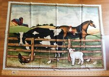 Multiple Folk Art Country Pre-Cut Panels Cotton Fabric