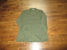 FATIGUE SHIRT  ,OLIVE,NEW OLD STOCK, LARGE 16.5X36, US MADE,poly/cotton