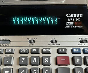 Canon MP11DX Calculator - 2-Color Heavy Duty Desktop Printing Clock & Calendar
