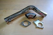 "Full 2.5"" Downpipe o2 bung Stainless Steel Fox Body Ford Mustang 5.0 TT 5.0L DIY"