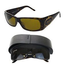 Auth PRADA MILANO Logos Sunglasses Eye Wear Plastic Brown Made In Italy 09F866