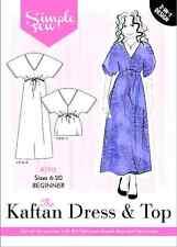 SIMPLE SEW SEWING PATTERN THE KAFTAN DRESS & TOP BEGINNER SIZE 6-20 SR18