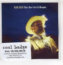 (HF600) Karl Blau, That's How I Got To Memphis - 2016 DJ CD
