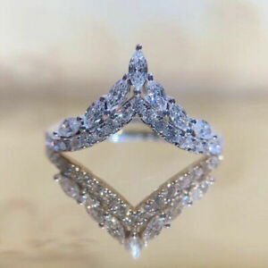 Fashion 925 Silver Rings for Women Cubic Zirconia Jewelry Wedding Ring Size 6-10