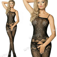 Fishnet Leopard Women Ladies Bodystocking Dress Lingerie Underwear Crotchless 28