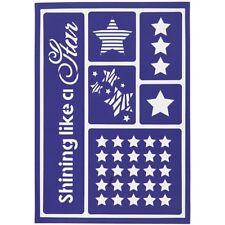STELLA di Natale Stencil che brilla come una stella Viva Decor flessibile appiccicoso Stencil