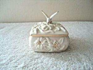 "Vintage Lenox Hummingbird Themed Trinket Box "" BEAUTIFUL COLLECTIBLE ITEM """