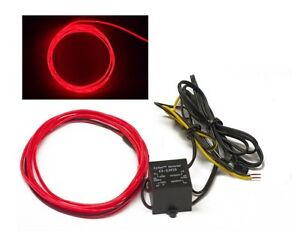 RED ORANGE 5 foot 12v Glow Wire for gauges