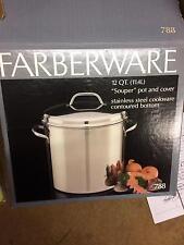 Retro Farberware 12qt souper pot  w/cover distributed from the Bronx NY #788 NOS