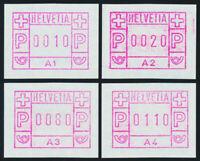 SCHWEIZ 1976, Automatenmarken 1 A 1 - A 4, tadellos postfrisch, Mi. 130,-