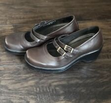 DANSKO Marcelle Mary Jane Clogs Slip On Shoes Women's Leather Brown Size 36 US 6