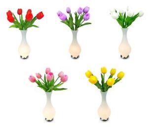 LED Tulip Flower Vase Table Lamp 56cm Home Decor Light