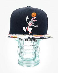 Space Jam Tune Squad Bugs Bunny Basketball Snapback Hat Baseball Flat Bill Cap