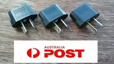 3 x USA EU EURO ASIA to AU AUS AUST AUSTRALIAN POWER PLUGs TRAVEL ADAPTER