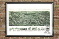 Old Map of Pearl River, NY from 1924 - Vintage New York Art, Historic Decor