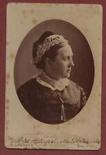 Halifax 'Stirling' (Ida Isa) surname Lady   cabinet photograph qd273