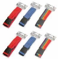 6x Gepäckgurt mit Klickverschluss | Koffergurt | Kofferband Set | Gepäckband