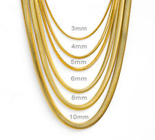 Mens Womens Herringbone 18K Gold Plated Stainless Steel  Necklaces Chains
