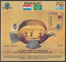 Paraguay 1983 ** bl.391 montgolfière palloncino Balloon Aviazione Aviation [sr2190]
