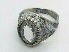 Rare ancient vintage roman bronze ring white stone artifact authentic stunning