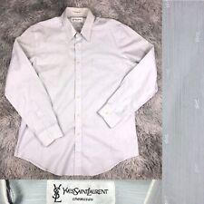 Vintage 1990's Yves Saint Laurent Chemises YSL Monogram Logo Button Up Shirt 17