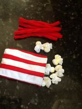 FELT FOOD POPCORN AND CHERRY TWIZZLER  PLAY SET NEW