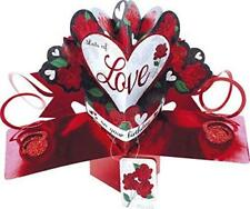 SECOND NATURE 3D POP UP LOTS OF LOVE ON YOUR BIRTHDAY ROSES BIRTHDAY CARD NEW