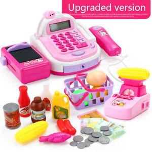 Supermarket Till Kids Cash Register Toy Gift Set Child Girl Shop Role Play Gifts