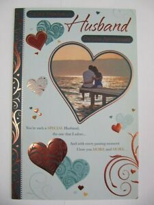 LARGE GORGEOUS TO MY WONDERFUL HUSBAND ON OUR ANNIVERSARY GREETING CARD