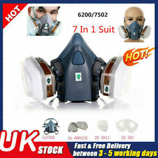 Safety 3M 6200/7502 Shield Filter 7in1 Respirator Facepiece Work Spray Paint Gas