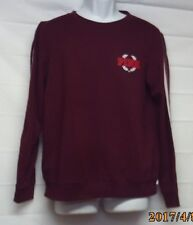 Victoria's Secret Pink Sweatshirt Med Perfect Crew Edition Limited Maroon (U2)