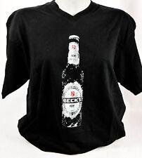 """Becks Bier, T-Shirt Women, schwarz, Gr. S, V-Ausschnitt, """"Ice Flasche"""""""