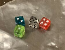 4 Six Sided D6 5mm .197 Inch Small Tiny Mini Miniature Dice